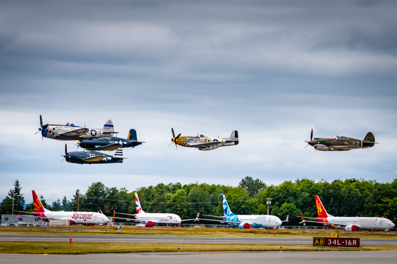 Vintage Warbirds over Paine Field