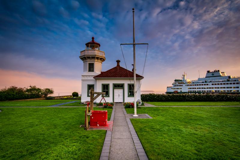 Mukilteo Lighthouse at Sunrise