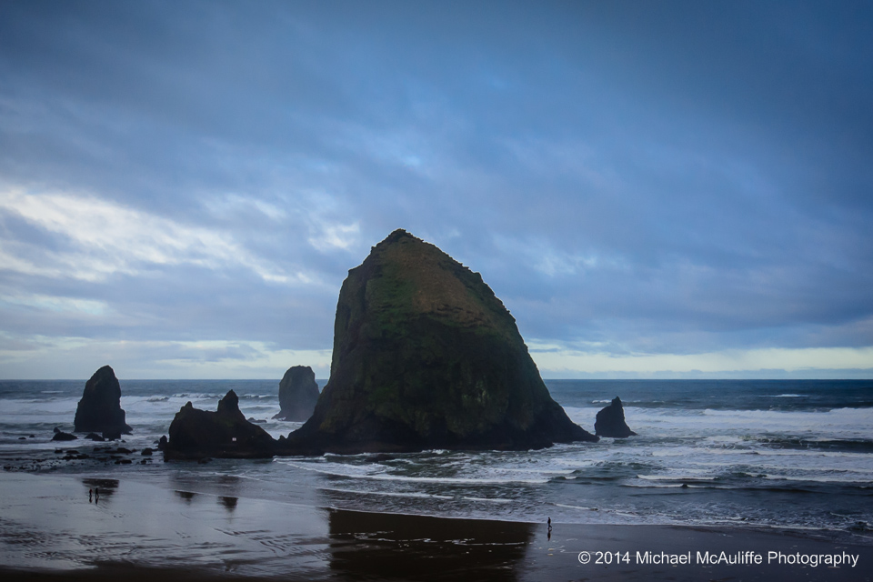 Haystack Rock in the early morning light