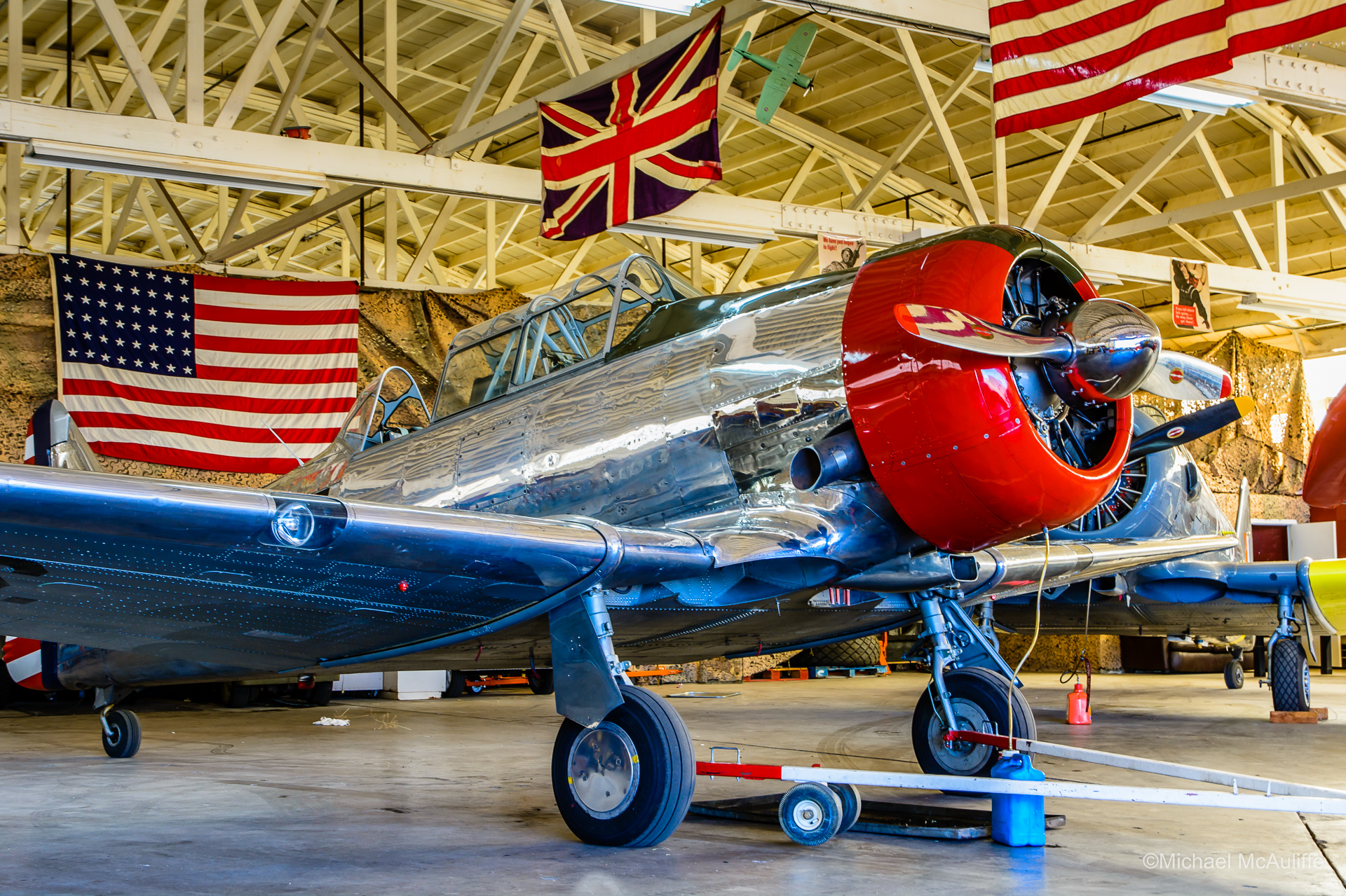 An AT-6 Texan at Falcon Field in Mesa, Arizona.
