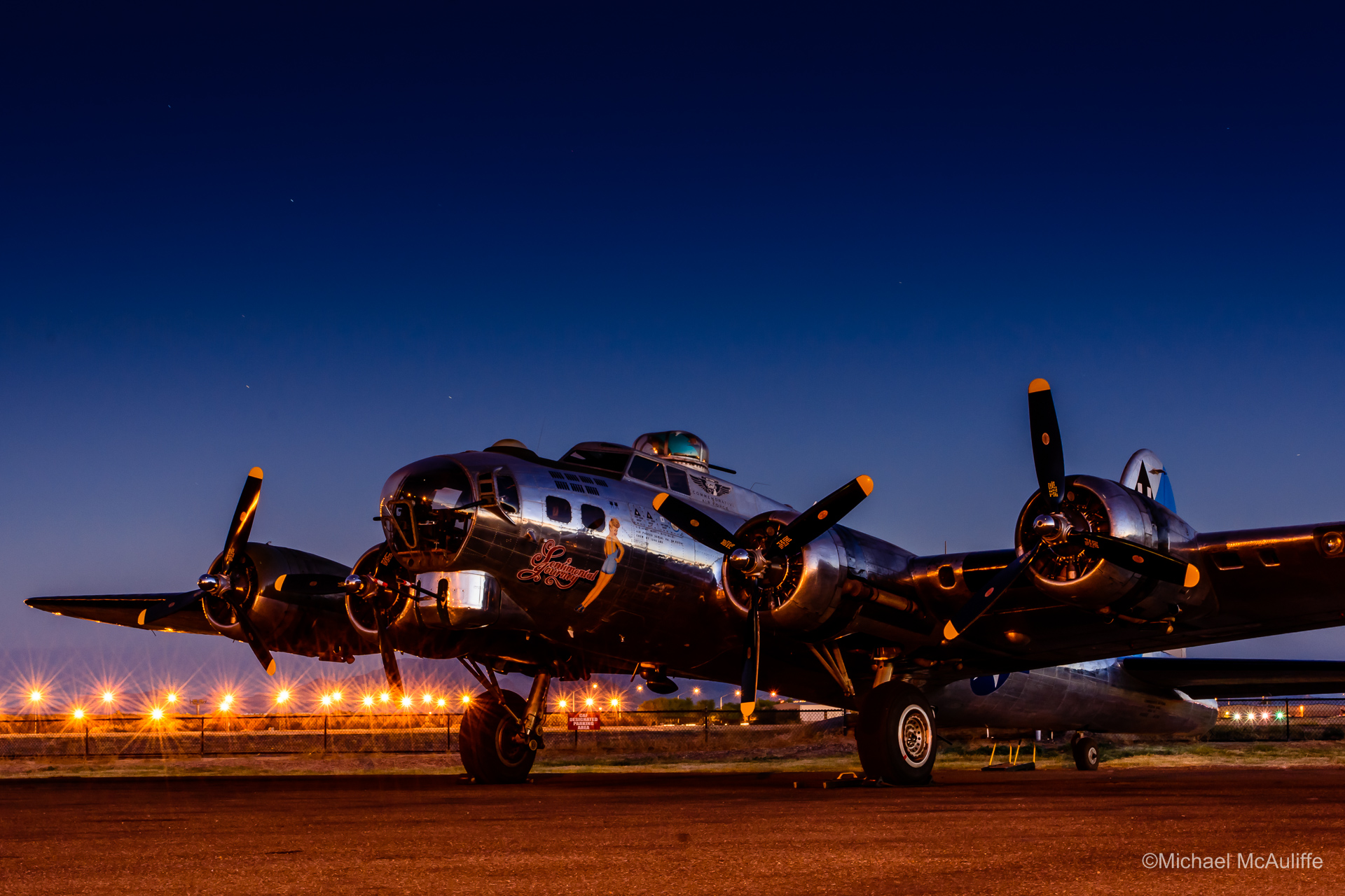 The B-17 Flying Fortress Sentimental Journey at the Arizona Commemorative Air Force Museum.