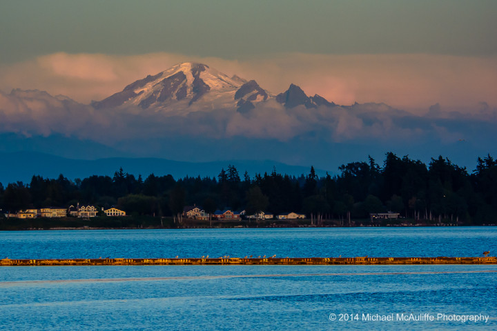 Mount Baker from the Semiahmoo spit.