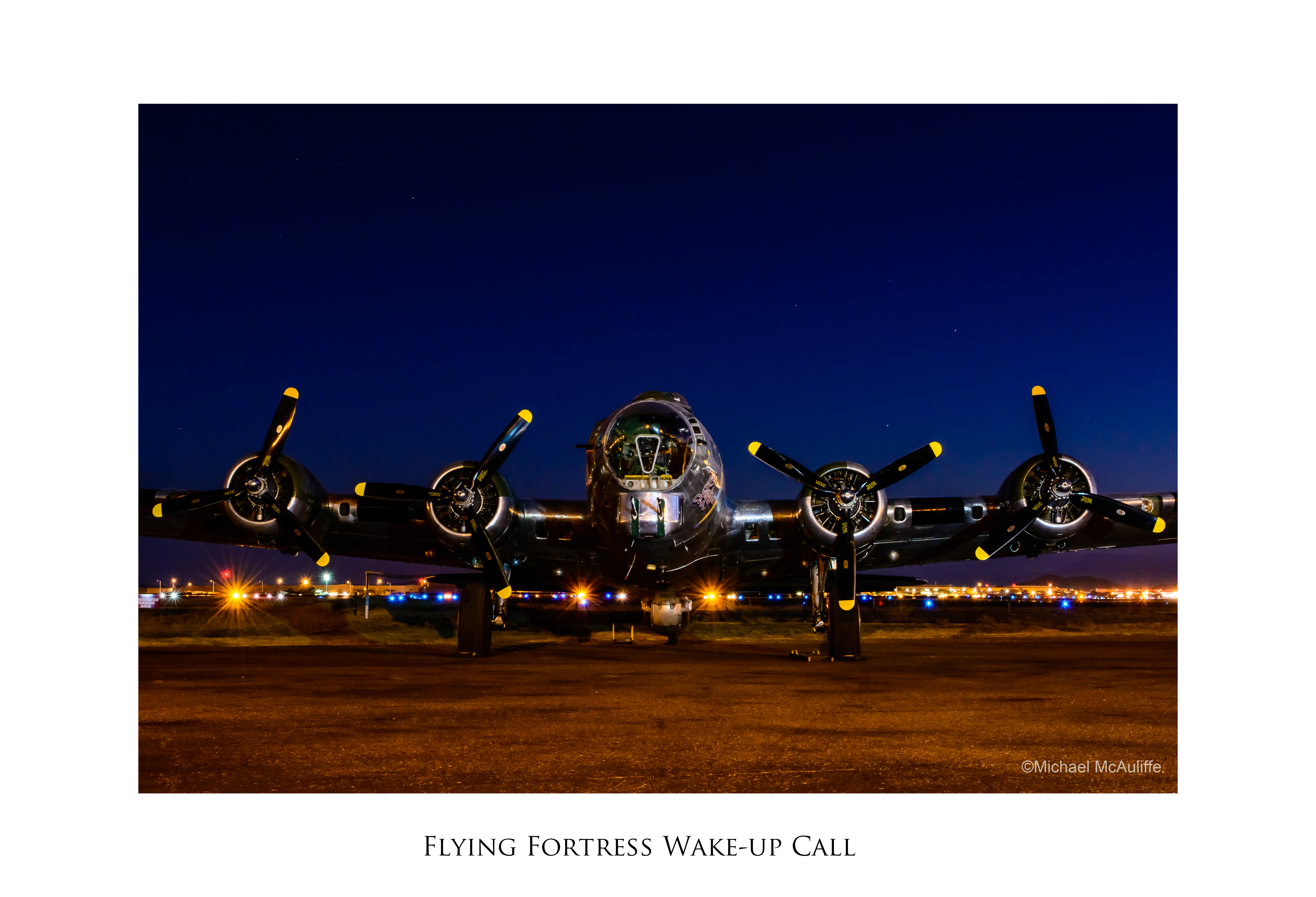 B-17G photograph in Museum of Flight Spirit of Flight Photo Exhibition.