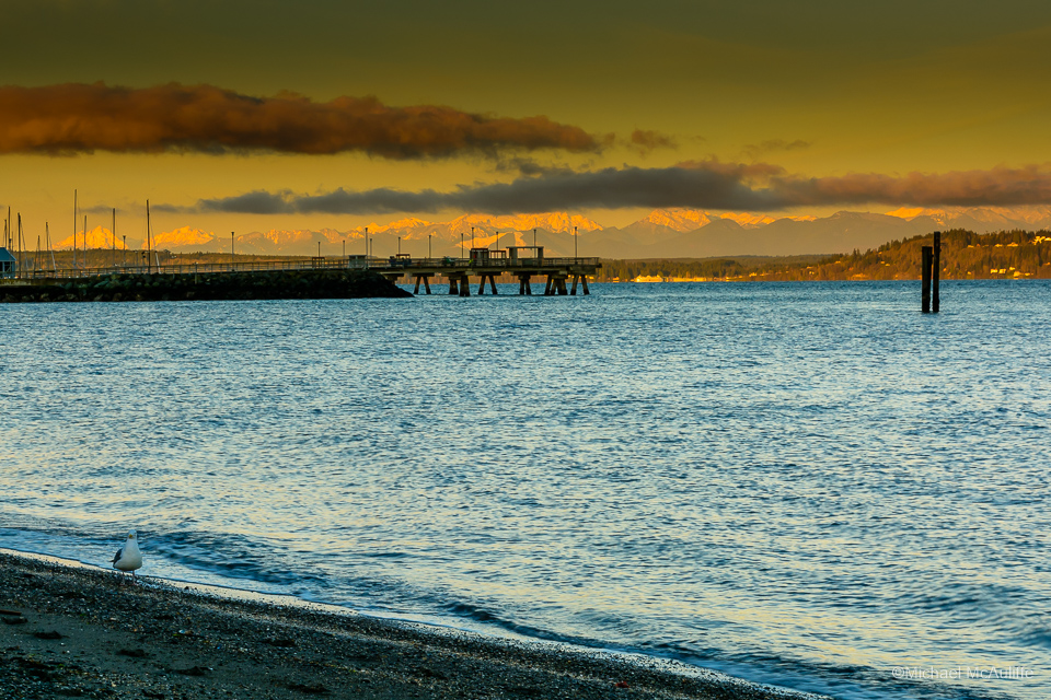 Cold Clear Morning on the Edmonds Waterfront