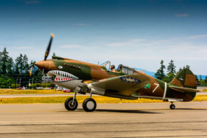The Flying Heritage Collection's Curtiss P-40 Warhawk.