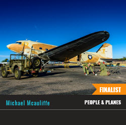 Mike McAuliffe's C-47 photo selected as Smithsonian Air & Space photo contest finalist.