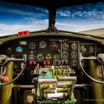 Historic cockpit. B-17 Flying Fortress Sentimental Journey